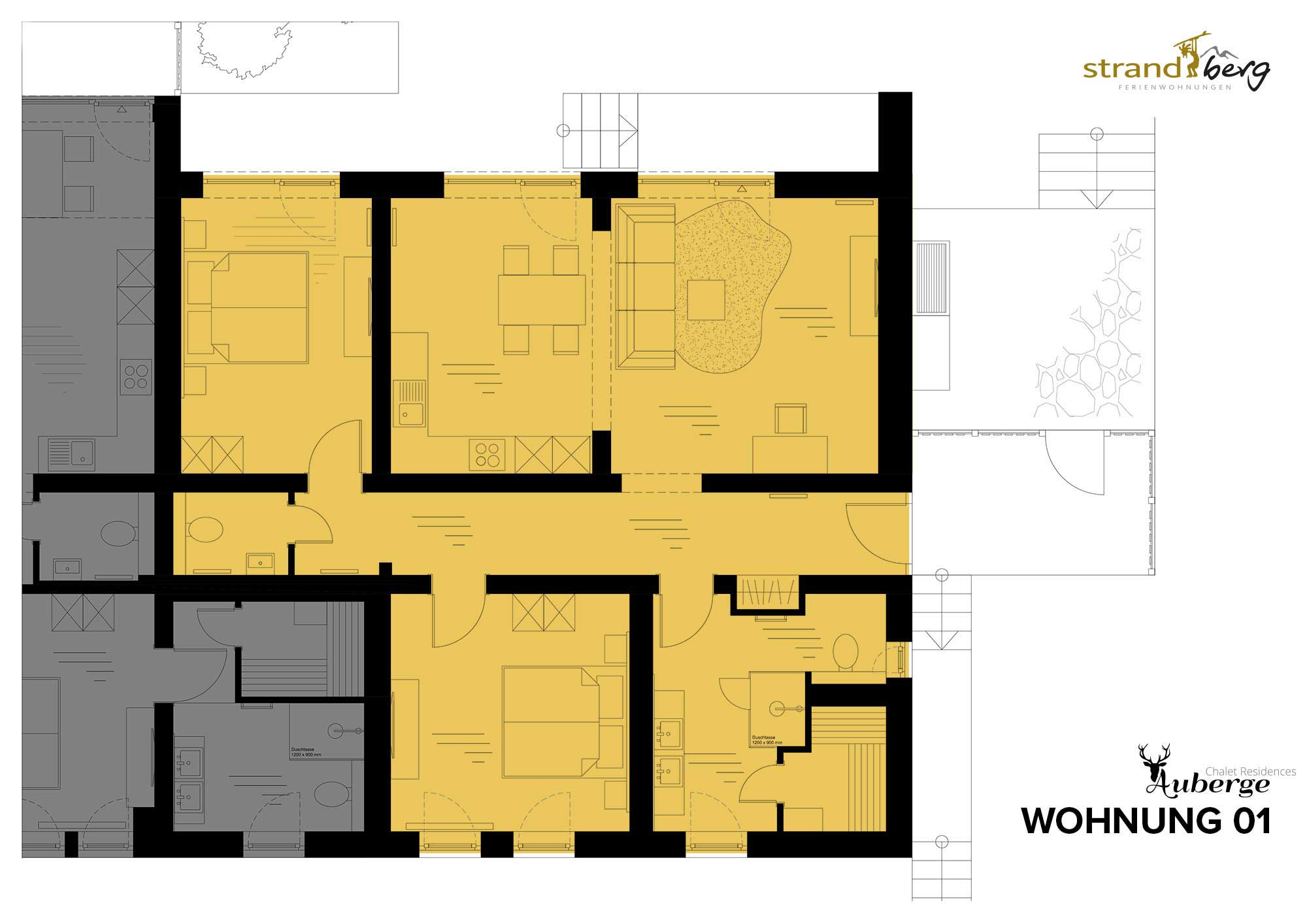 Wohnung 01 Grundriss