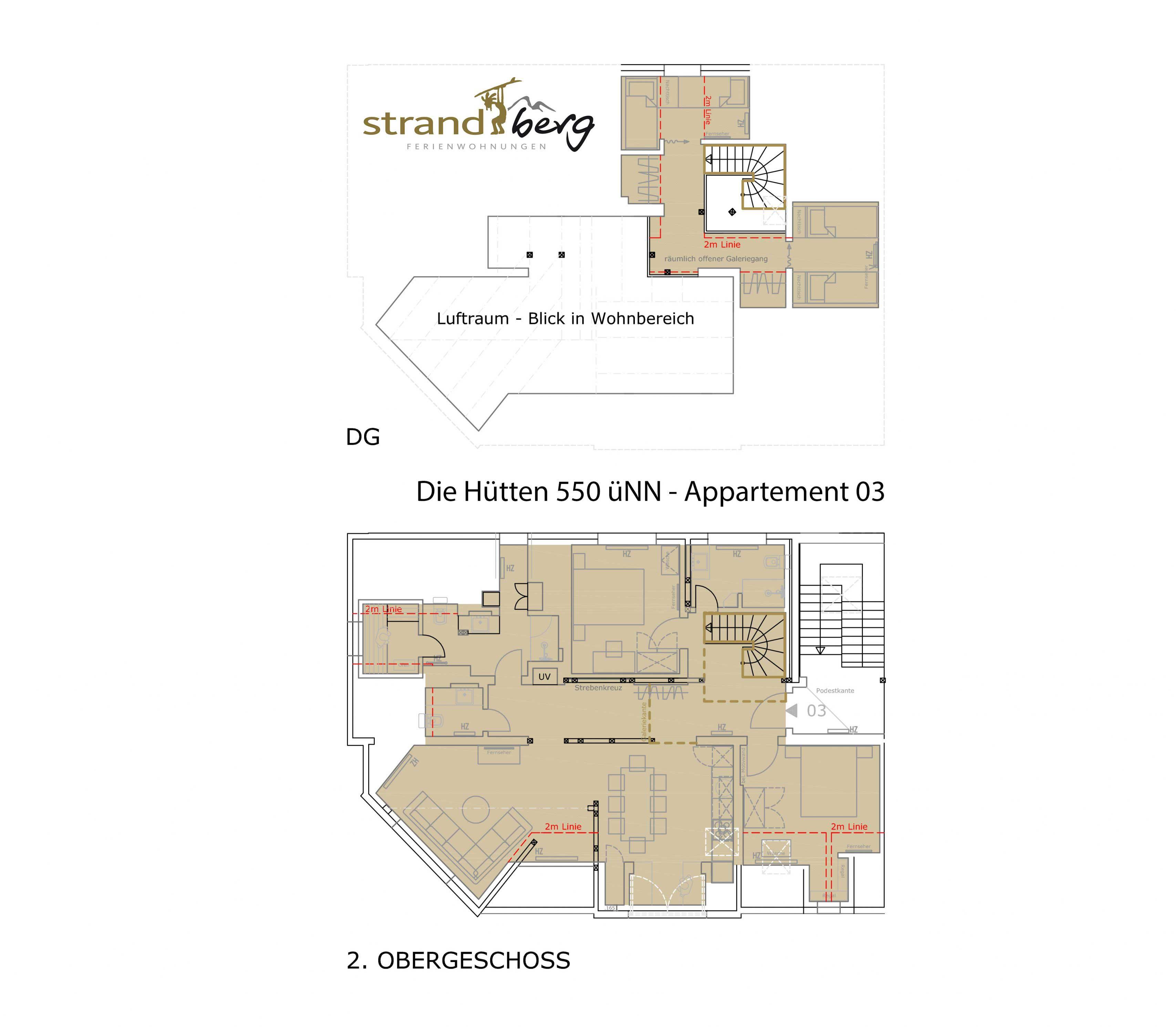 Die Hütten Grundriss Appartement 03
