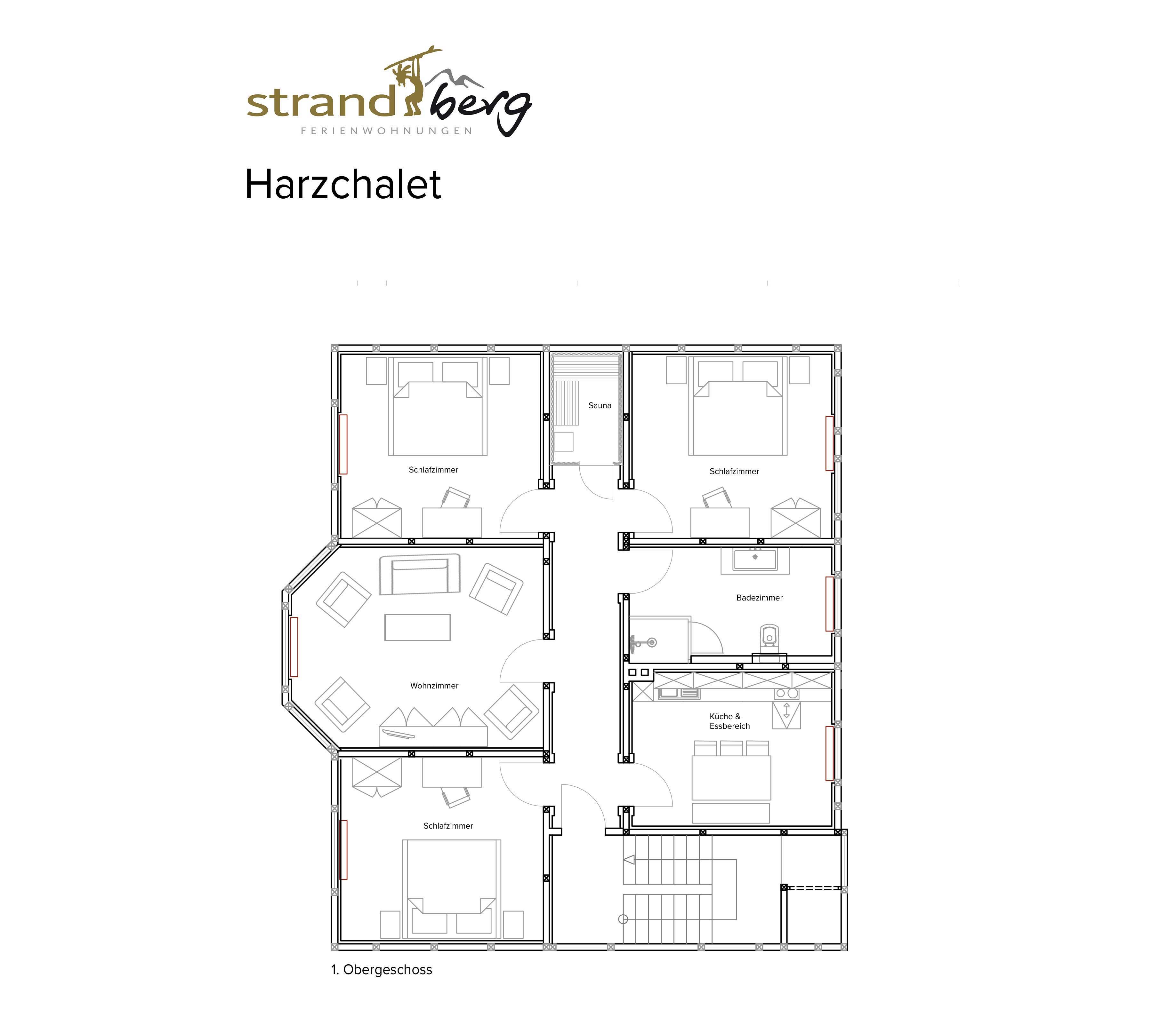Harzchalet - Grundriss