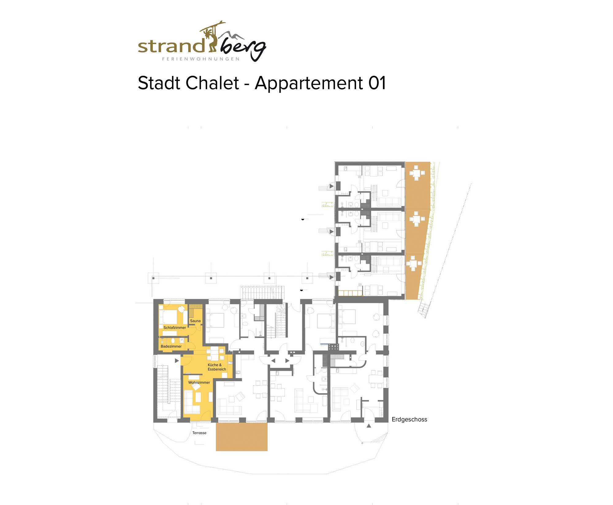 Stadt Chalet Appartement 1 - Grundriss