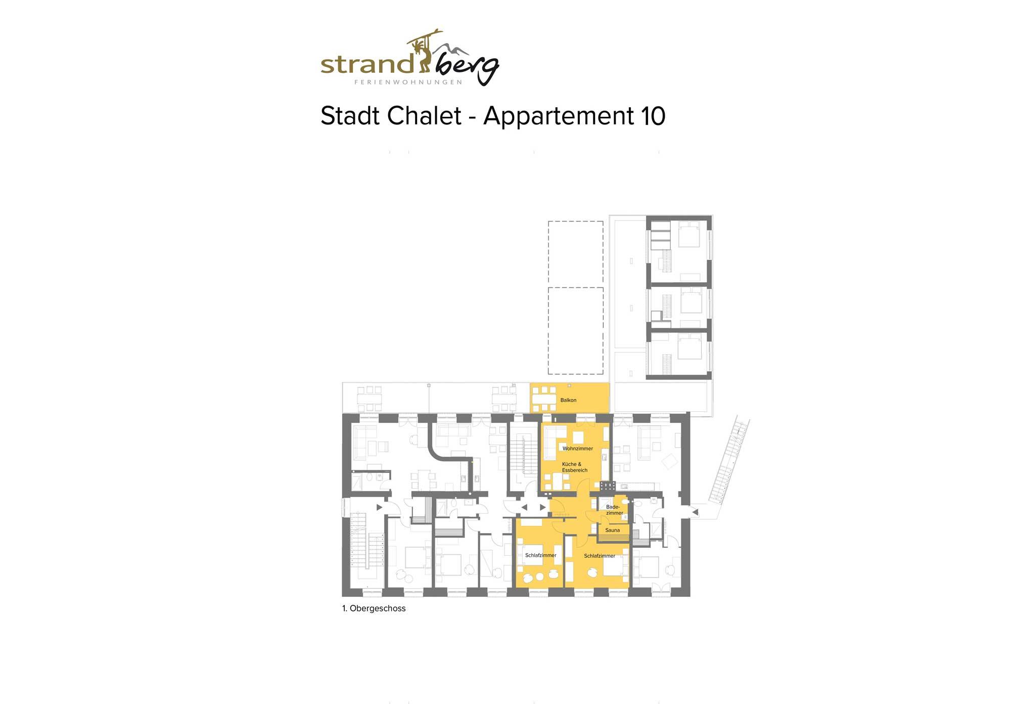 Stadt Chalet Appartement 10 - Grundriss