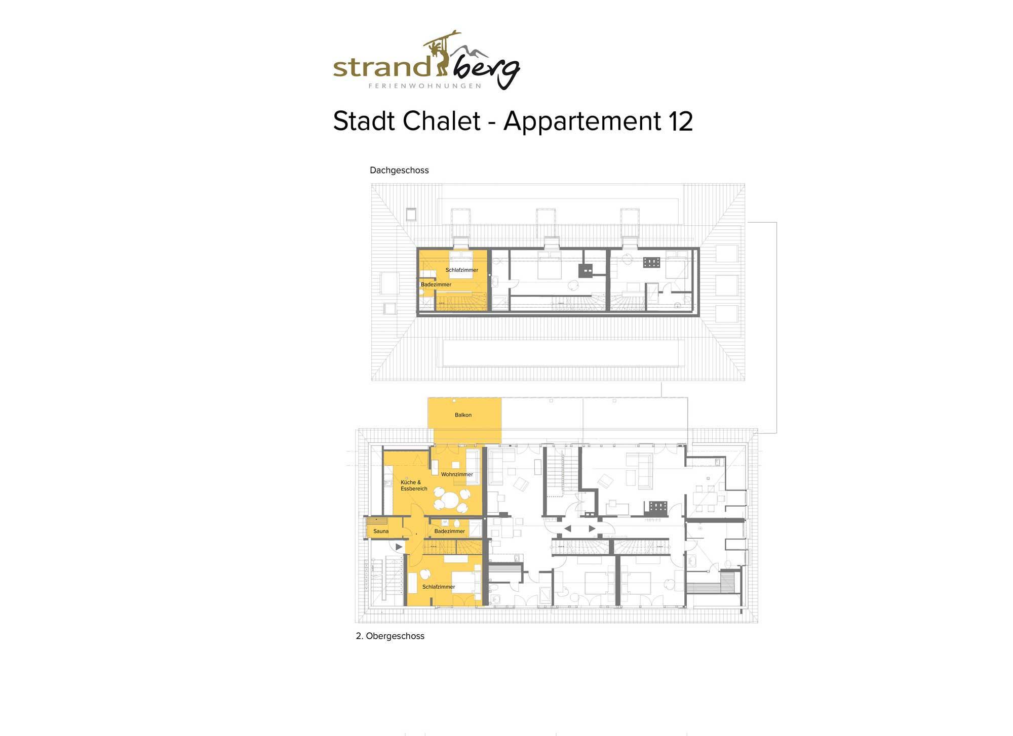 Stadt Chalet Appartement 12 - Grundriss