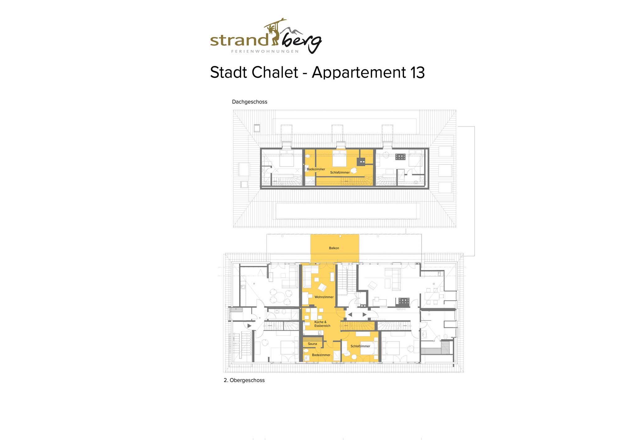 Stadt Chalet Appartement 13 - Grundriss