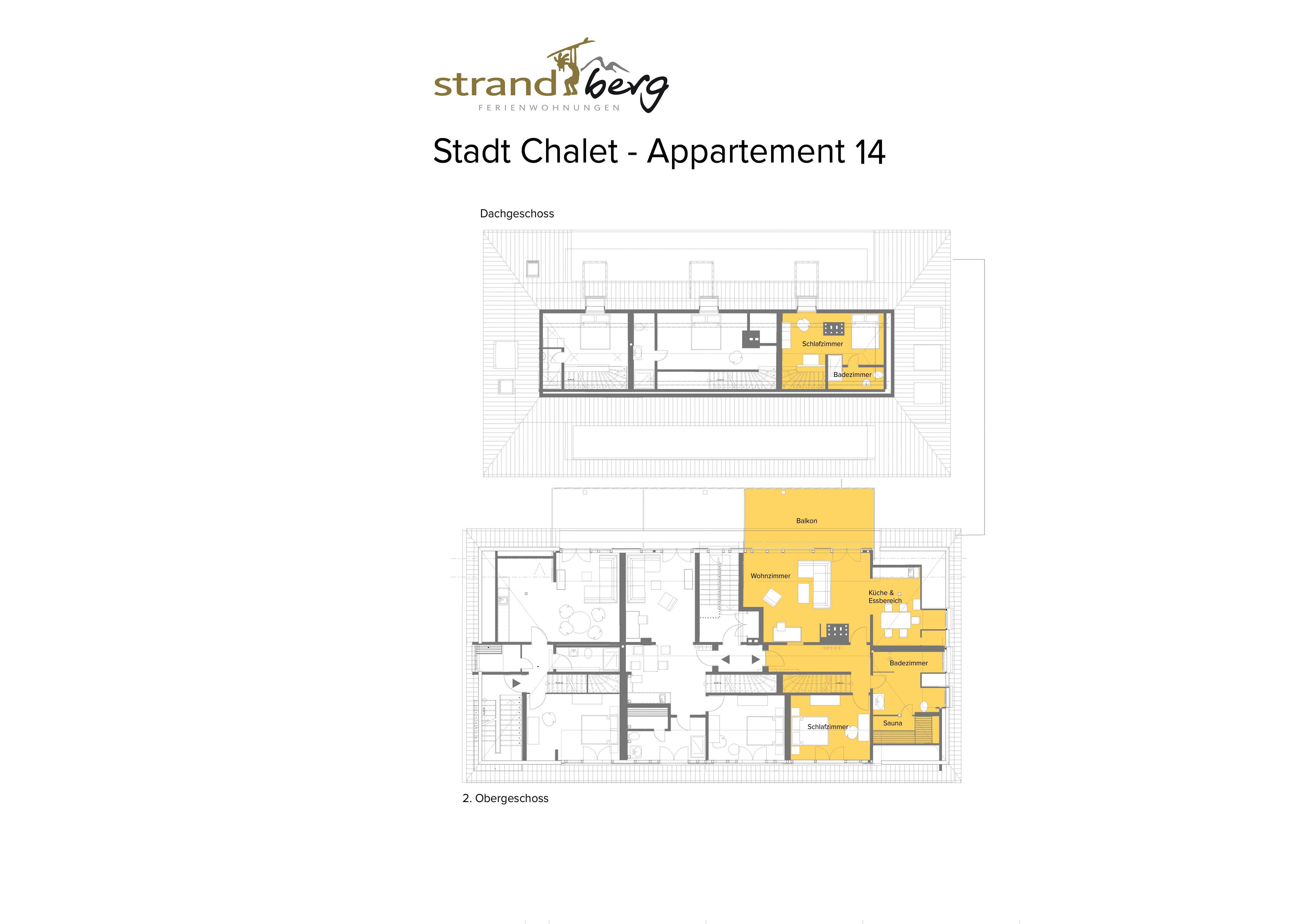 Stadt Chalet Appartement 14 - Grundriss