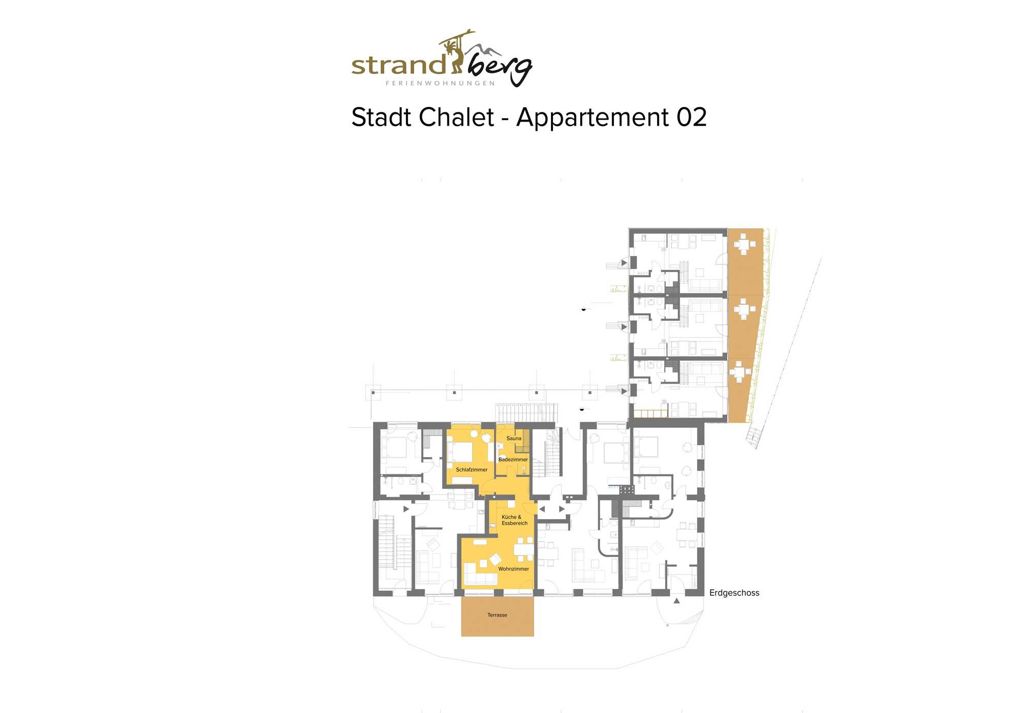 Stadt Chalet Appartement 2 - Grundriss