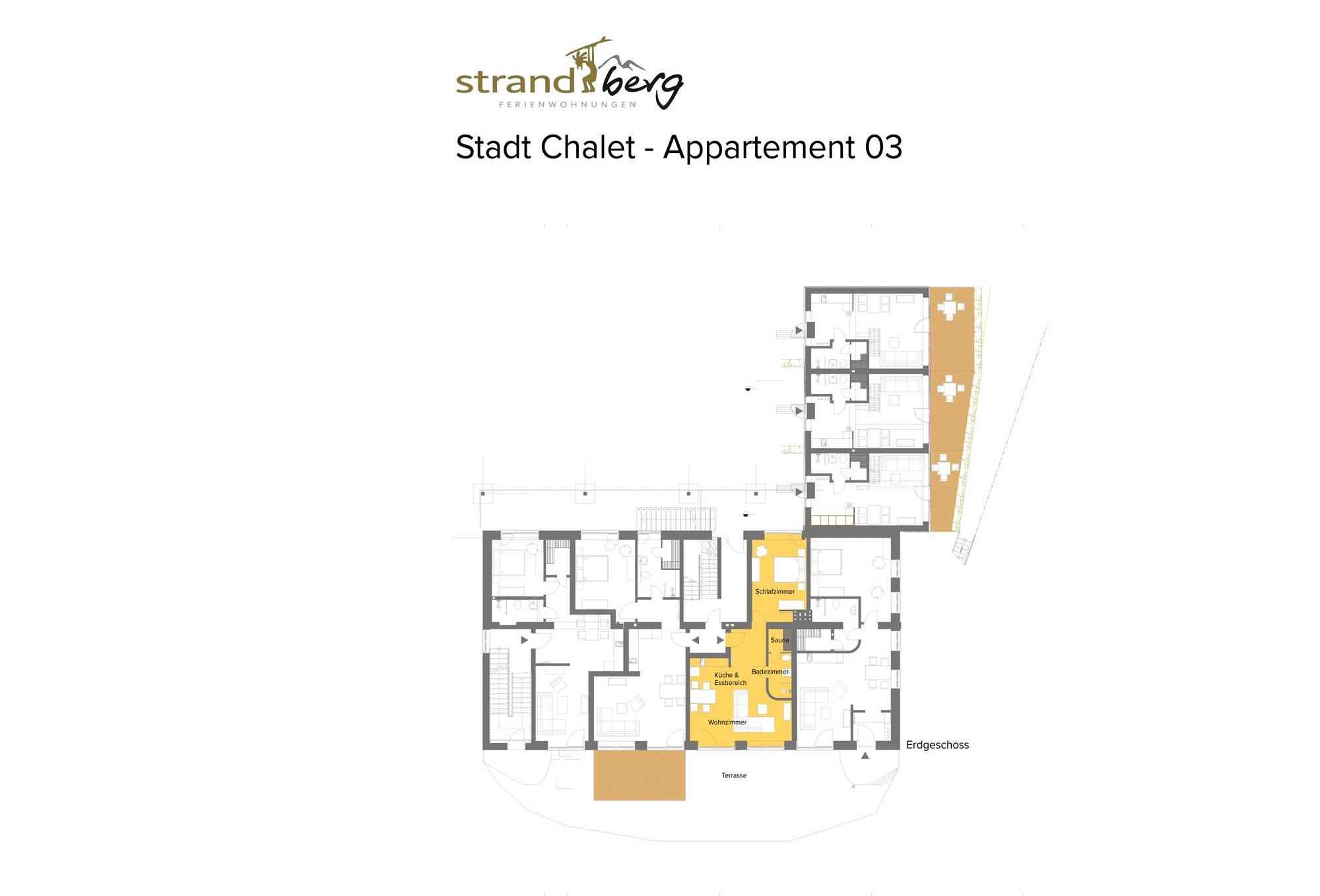 Stadt Chalet Appartement 3 - Grundriss