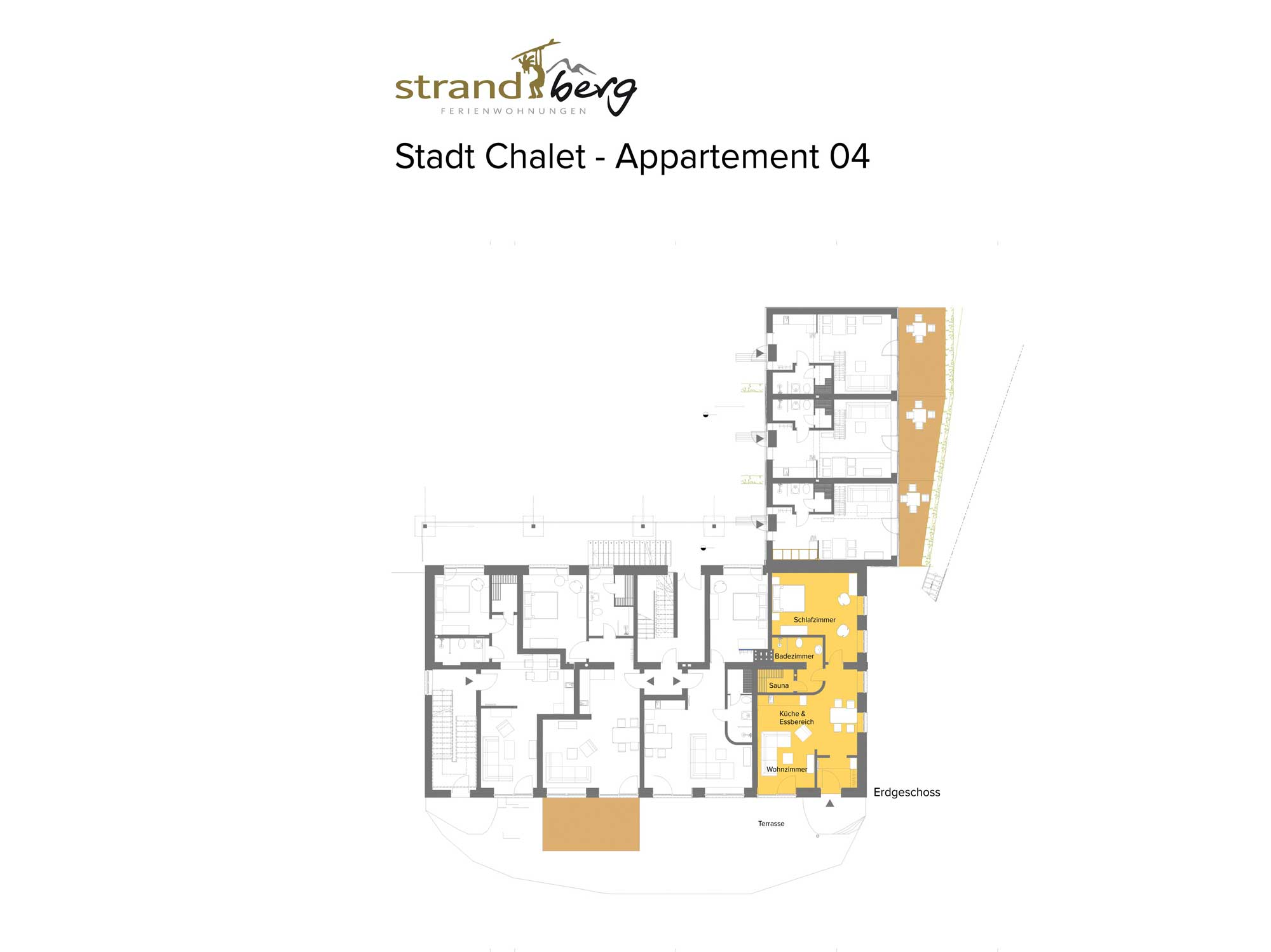 Stadt Chalet Appartement 4 - Grundriss