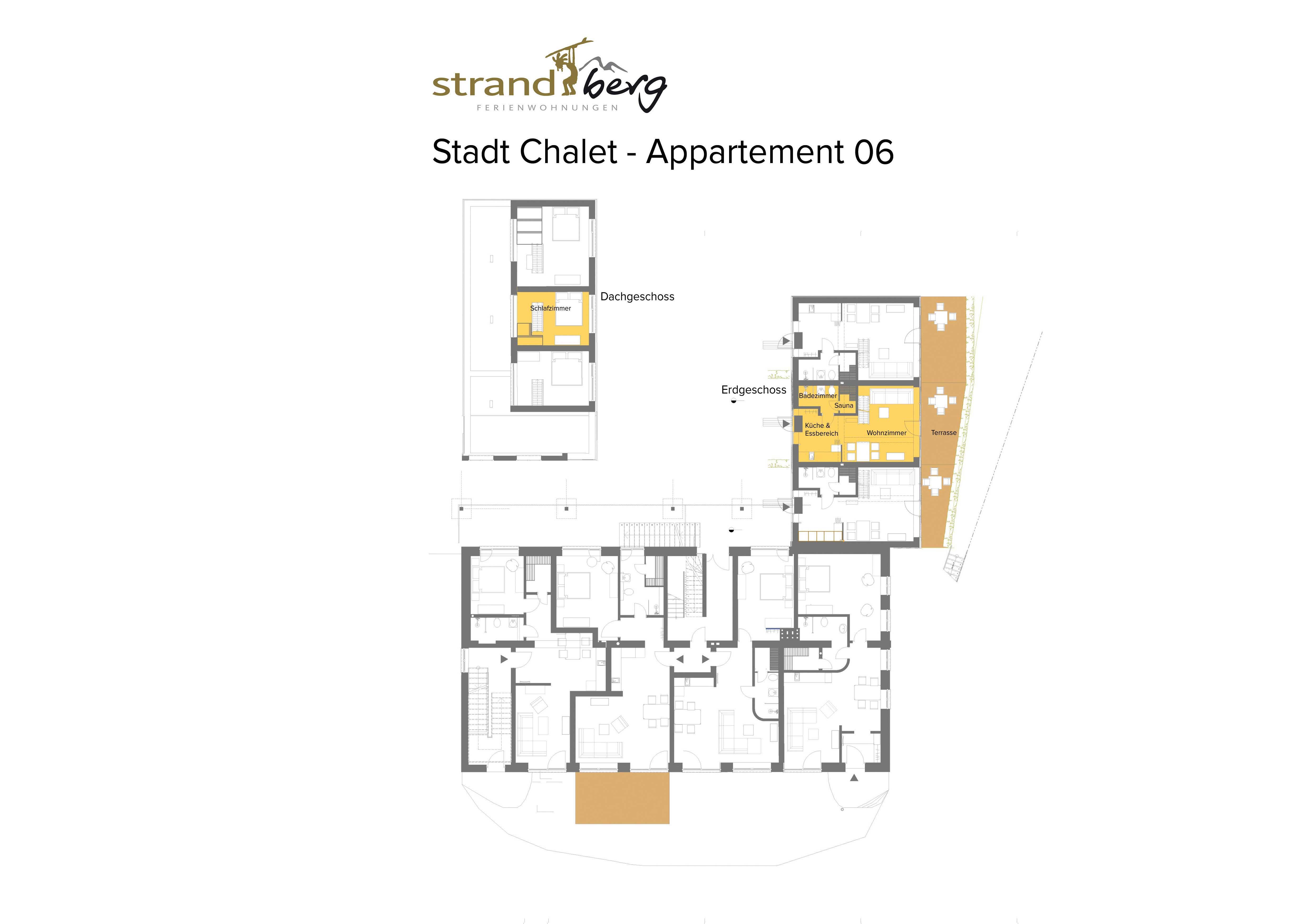Stadt Chalet Appartement 6 - Grundriss