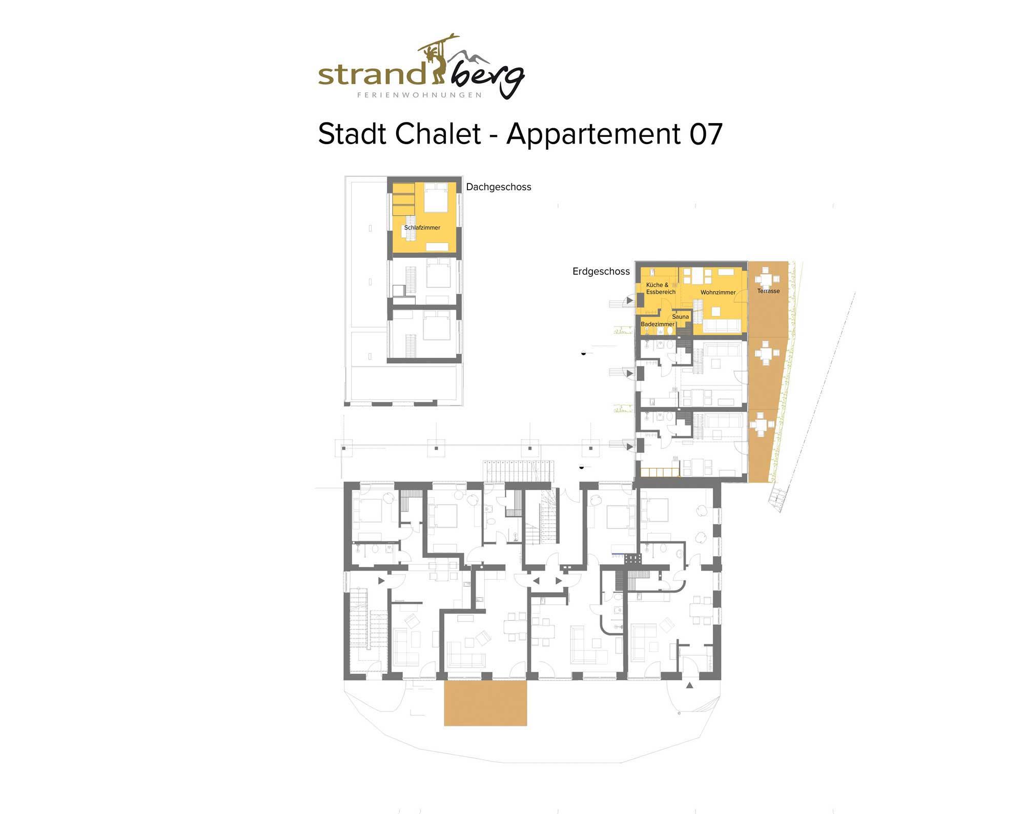 Stadt Chalet Appartement 7 - Grundriss