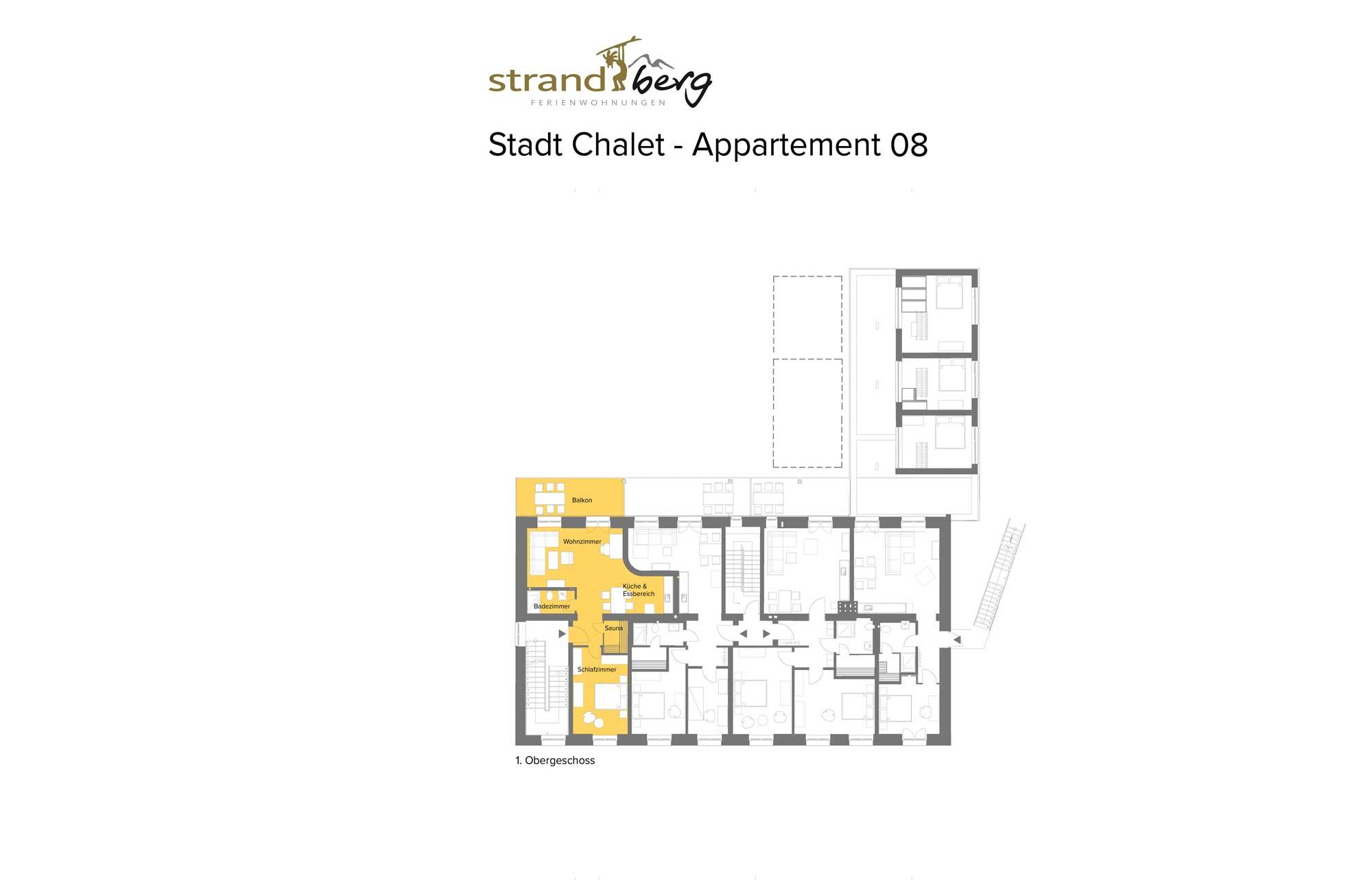 Stadt Chalet Appartement 8 - Grundriss